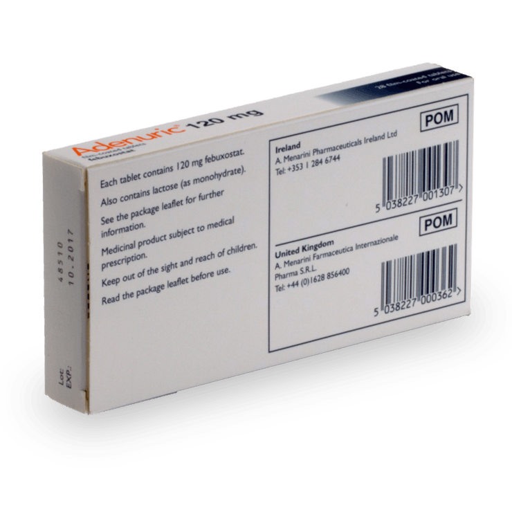 Buy Adenuric Online 80mg Or 120mg Uk Pharmacy Treated Com