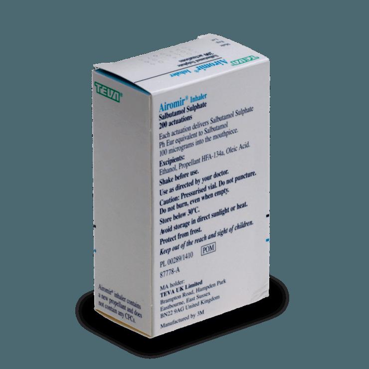 Buy Airomir Inhaler Online 100mcg Autohaler Treated Com Uk