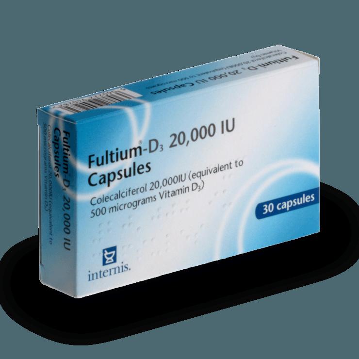 Buy Fultium D3 800 IU Capsules Online - UK Pharmacy