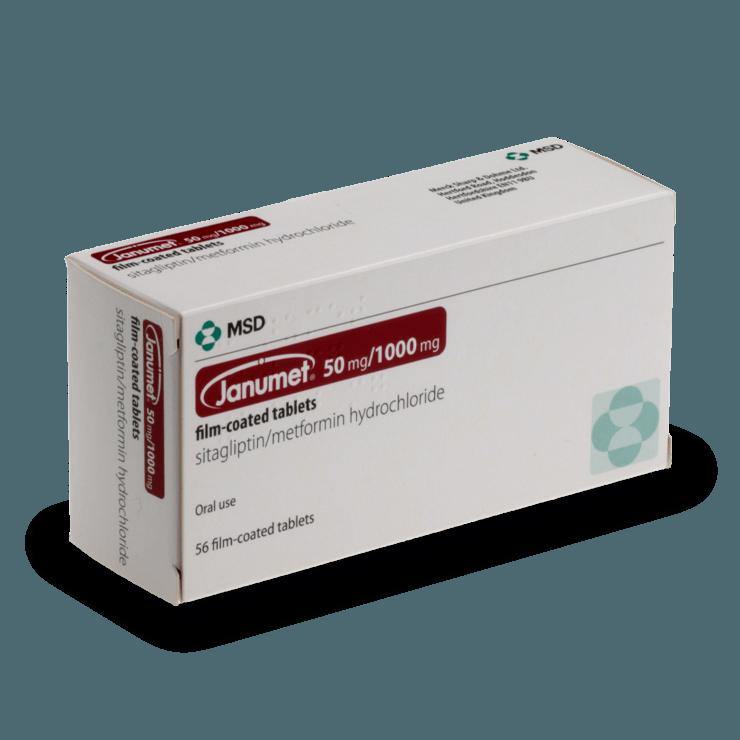Buy Janumet Online, 50mg/1000mg Diabetes Tablets - Treated