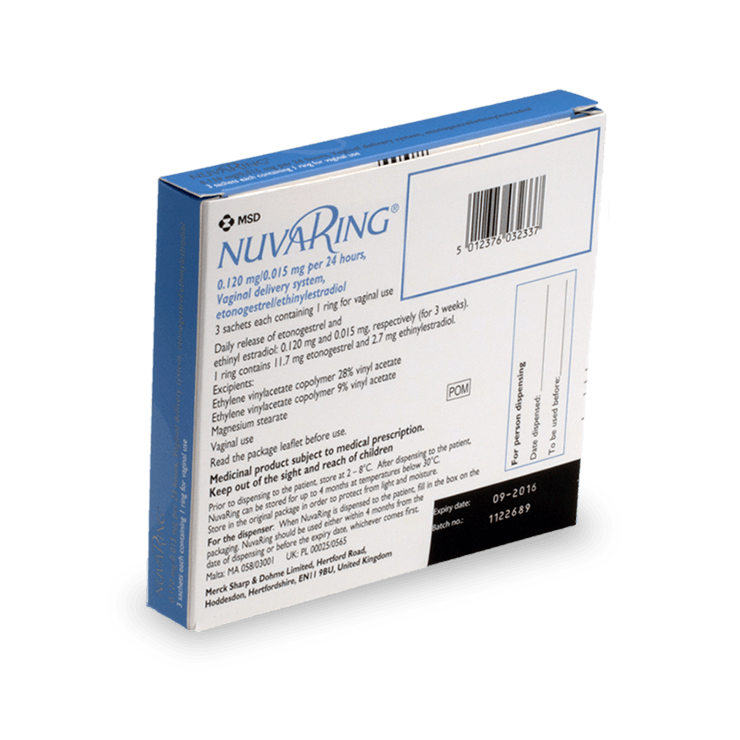 Acheter Nuvaring en ligne, livraison rapide | treated.com